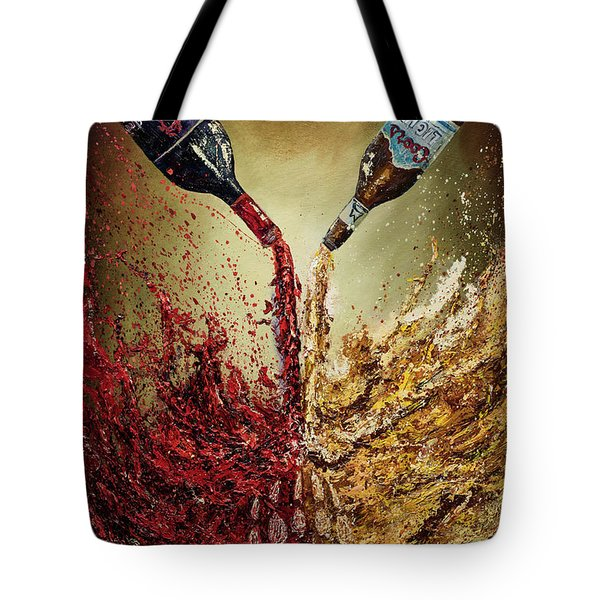 Pouring It Down Tote Bag
