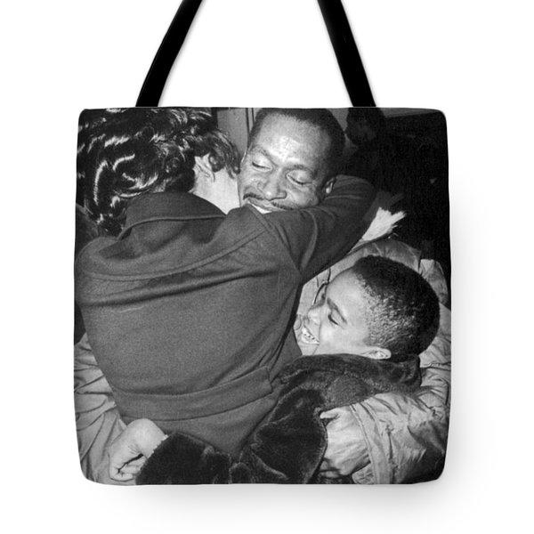 Pow Greets Family Tote Bag