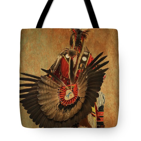 Tote Bag featuring the mixed media Pow Wow 2 by Jim  Hatch