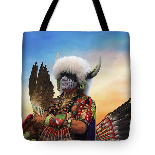 Tote Bag featuring the photograph Pow Wow 3 by Jim  Hatch