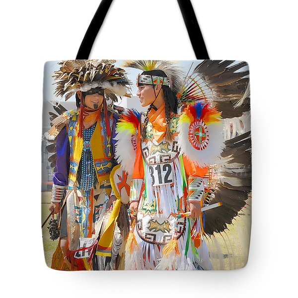 Pow Wow Contestants - Grand Prairie Tx Tote Bag by Dyle   Warren