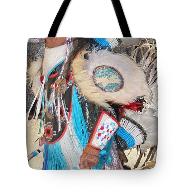 Pow Wow Dancer Tote Bag by Audrey Robillard