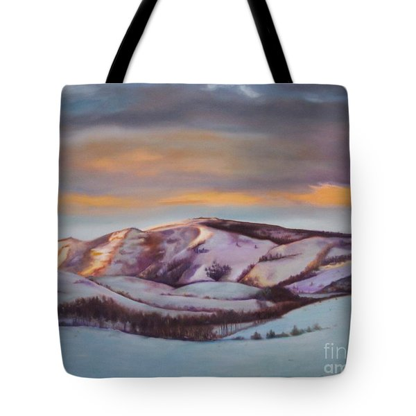 Powder Mountain Tote Bag