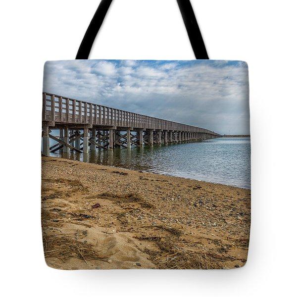 Powder Point Bridge Tote Bag