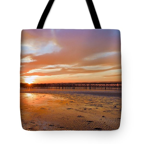 Tote Bag featuring the photograph Powder Point Bridge Duxbury by Amazing Jules