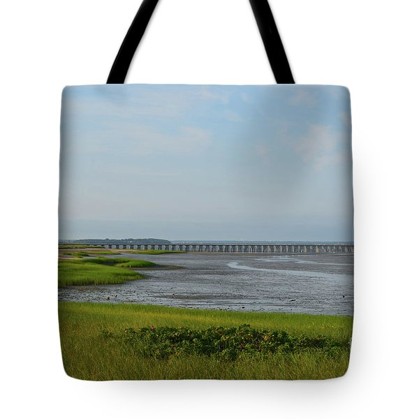 Powder Point Bridge In Duxbury  Tote Bag