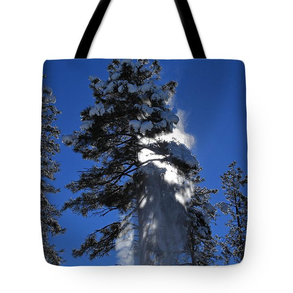 Tote Bag featuring the photograph Powderfall by Gary Kaylor