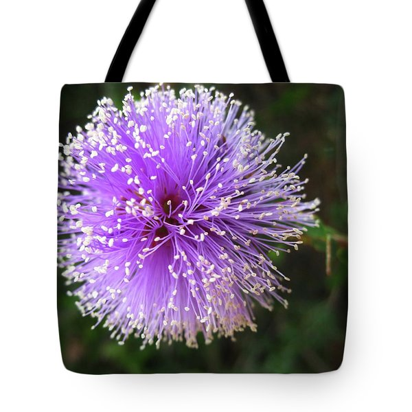Tote Bag featuring the photograph Purple Orb by Mary Ellen Frazee