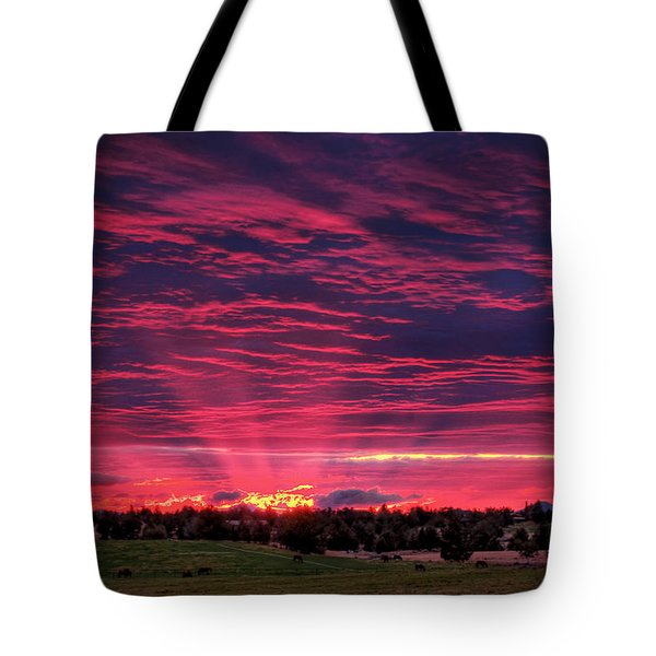 Powell Butte Oregon Sunset Tote Bag