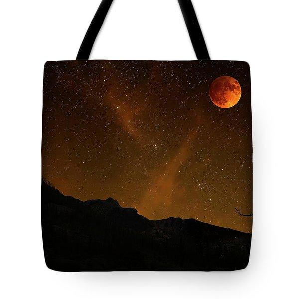 Power Blood Moon Tote Bag