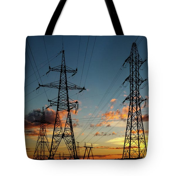 Power Cables Tote Bag