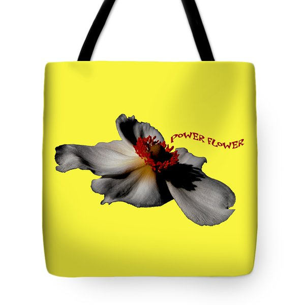 Power Flower Anemone Tote Bag