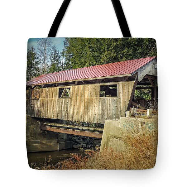 Power House Bridge Tote Bag