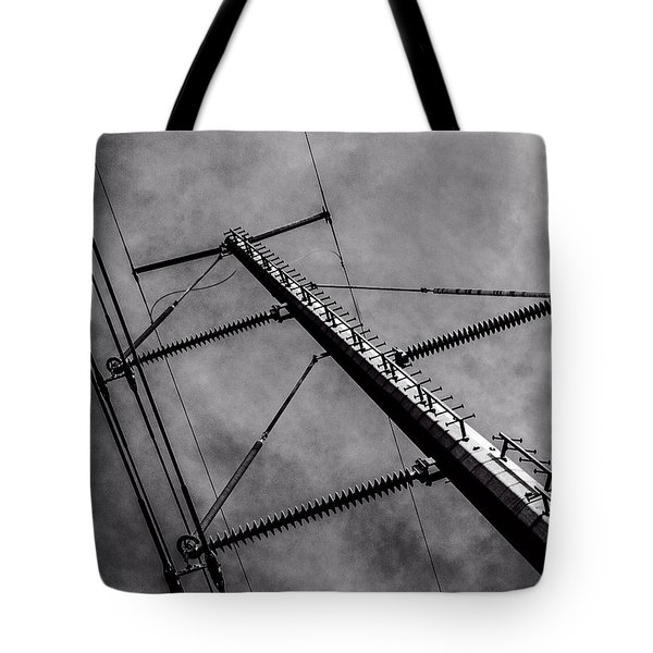 Power Line Sky Tote Bag