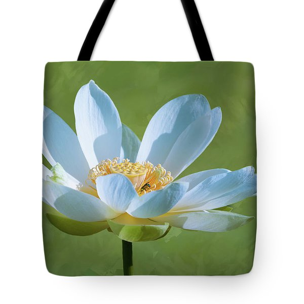 Power Of A Lotus Tote Bag by Carolyn Dalessandro