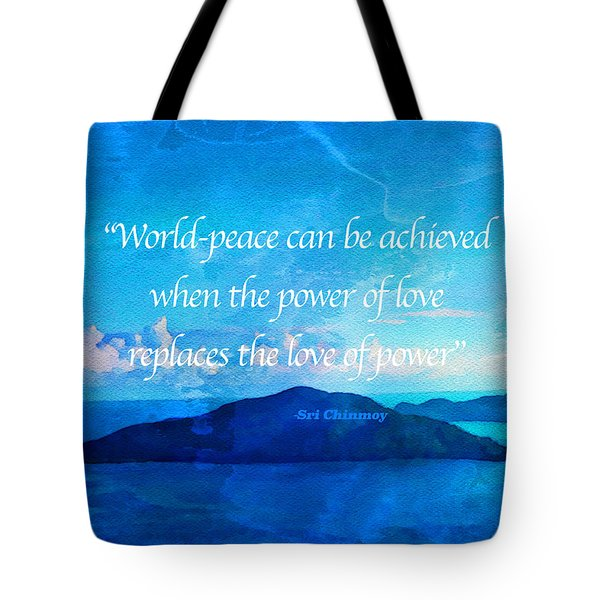 Power Of Love Tote Bag