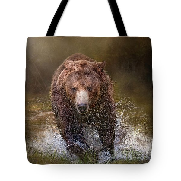 Power Of The Grizzly Tote Bag