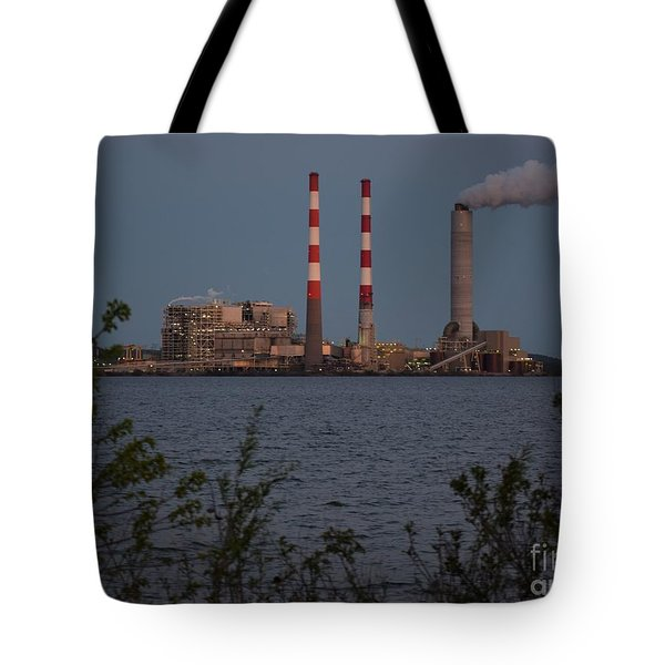 Power Plant At Dusk Tote Bag