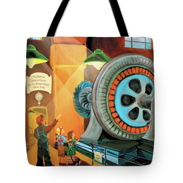 Power Plant Turbines Tote Bag