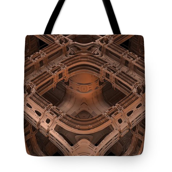 Tote Bag featuring the digital art Power Station Epsilon by Lyle Hatch