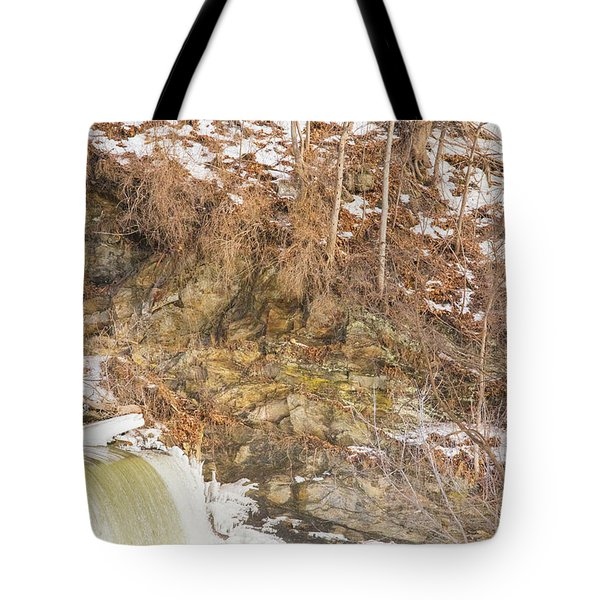 Power Station Falls On Black River Four Tote Bag