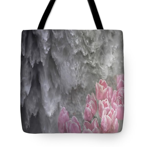 Tote Bag featuring the photograph Powerful And Gentle Waterfall Art  by Valerie Garner