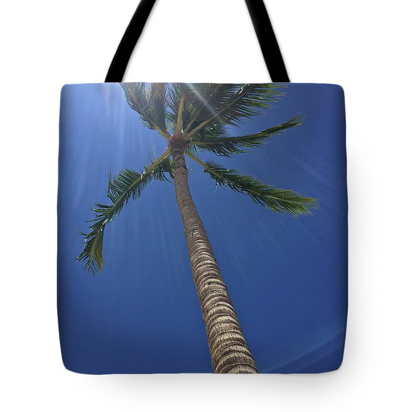 Powerful Palm Tote Bag by Karen Nicholson