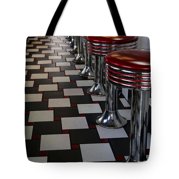 Power's Diner Port Huron Tote Bag by Mary Bedy