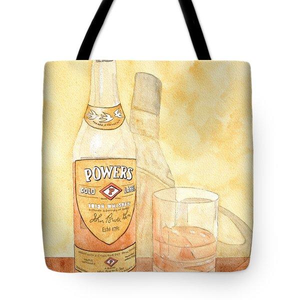 Powers Irish Whiskey Tote Bag by Ken Powers