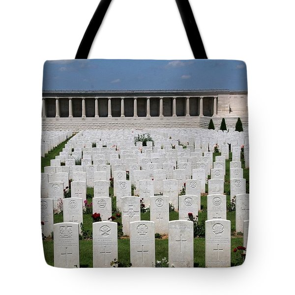 Tote Bag featuring the photograph Pozieres British Cemetery by Travel Pics