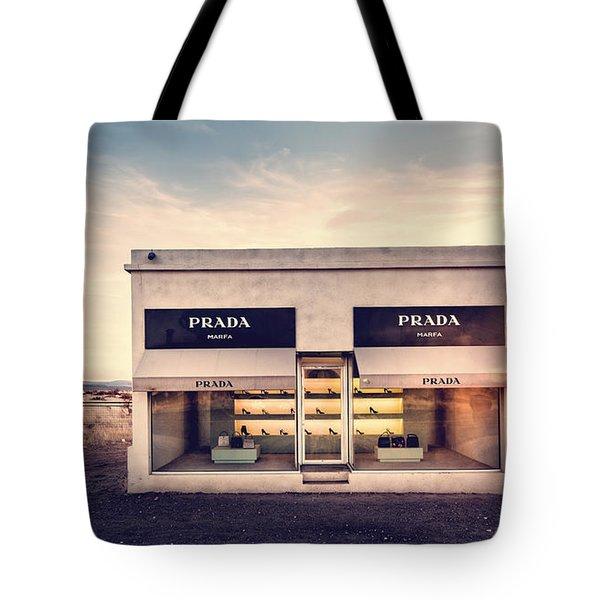 Tote Bag featuring the photograph Prada Store by Prada