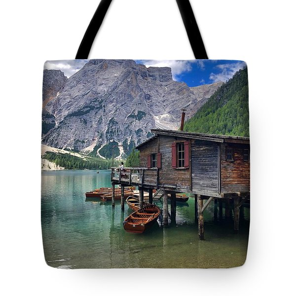 Pragser Wildsee View Tote Bag