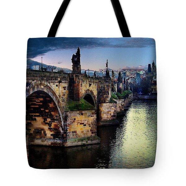 Prague At Dusk Tote Bag