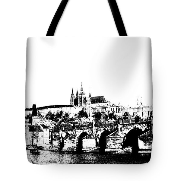 Prague Castle And Charles Bridge Tote Bag by Michal Boubin