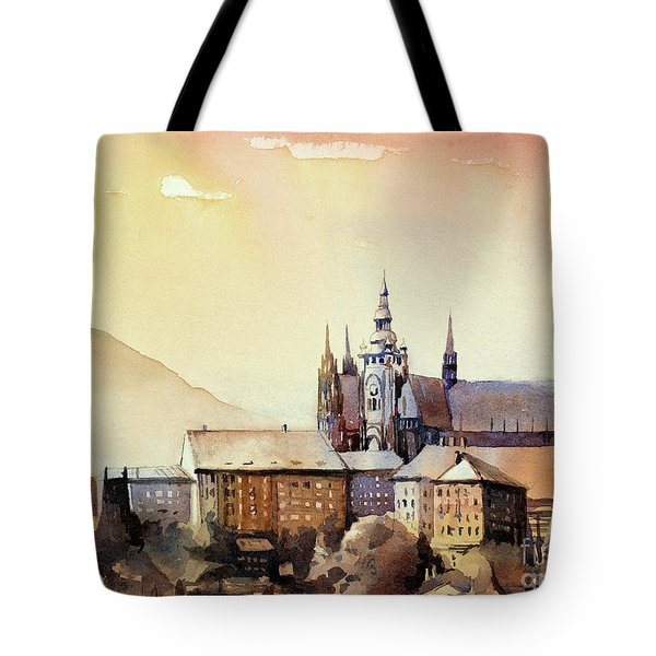 Prague Castle At Sunset- Czech Republic Tote Bag