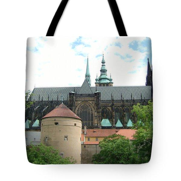 Prague Castle Back View Tote Bag
