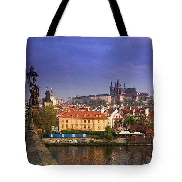 Prague Castle From Charles Bridge Tote Bag