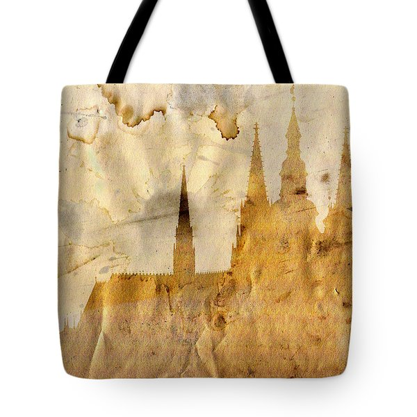 Prague Castle Tote Bag by Michal Boubin