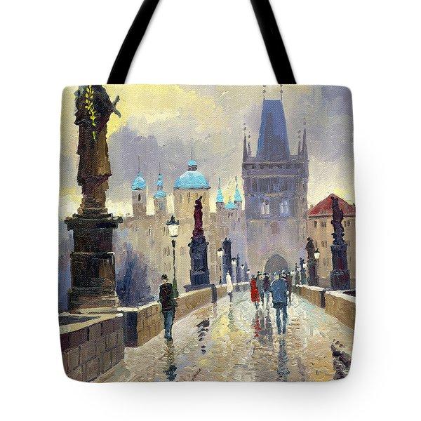 Prague Charles Bridge 02 Tote Bag