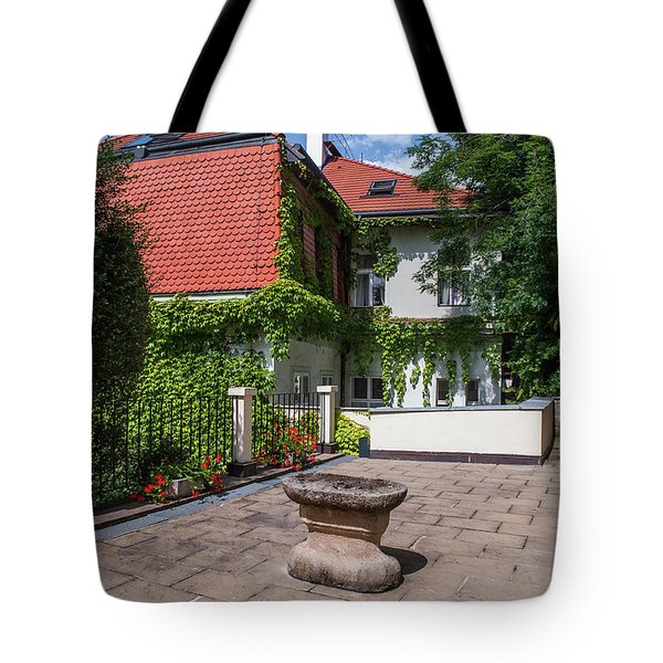 Tote Bag featuring the photograph Prague Courtyards by Jenny Rainbow