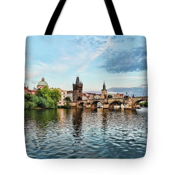 Prague From The River Tote Bag