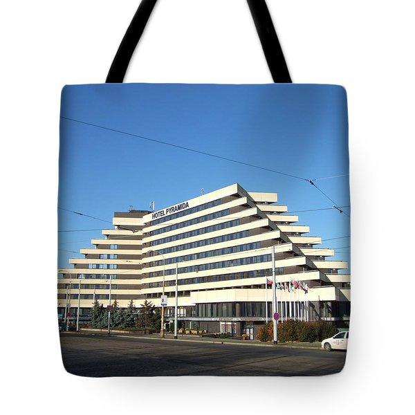 Prague Hotel Pyramid Tote Bag