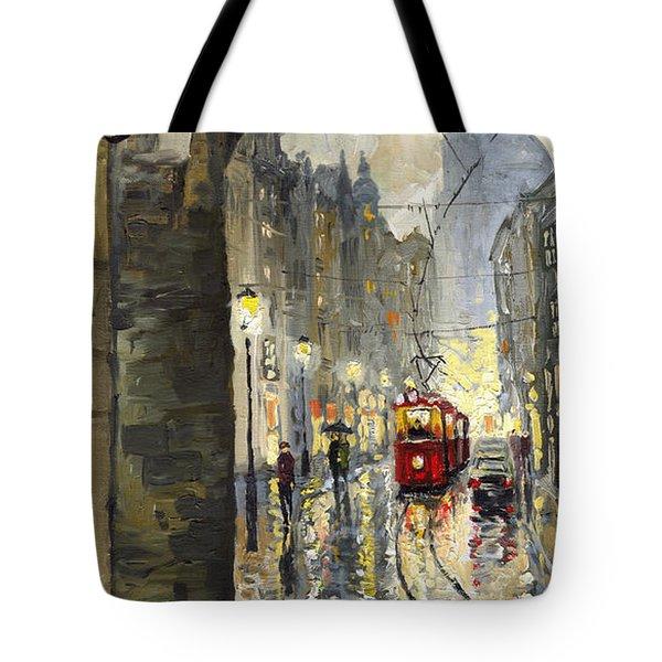 Prague Mostecka Street Tote Bag by Yuriy  Shevchuk