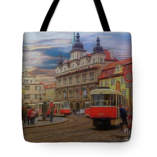 Prague, Old Town, Street Scene Tote Bag