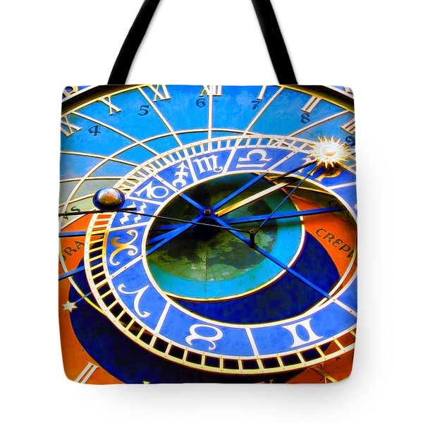 Prague Orloj Tote Bag