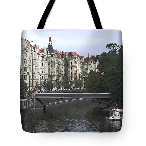Prague River Tote Bag