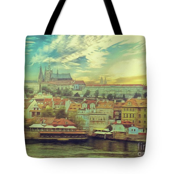 Prague Riverview Tote Bag