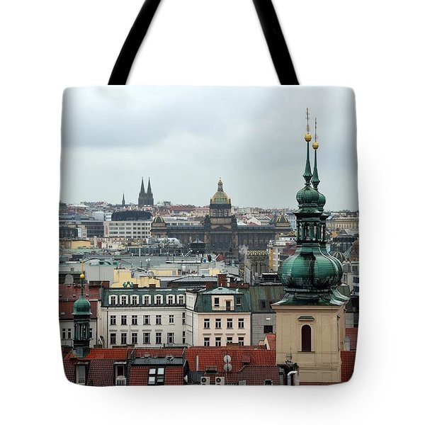 Tote Bag featuring the photograph Prague Rooftops by Steven Richman