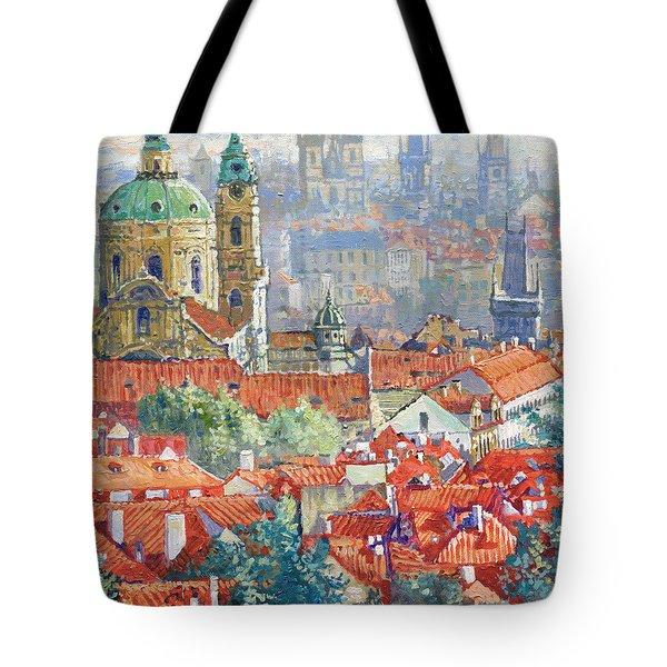 Prague Summer Panorama 1 Tote Bag
