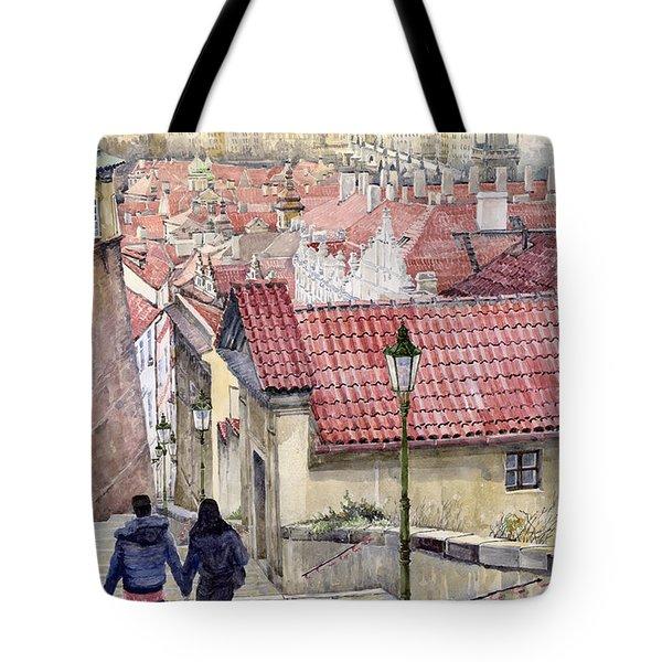 Prague Zamecky Schody Castle Steps Tote Bag